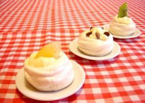 Enjoy eating baked meringues as cookies