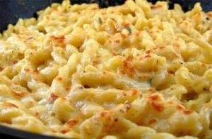 Macaroni Double Cheese Casserole