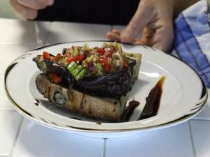 Amazing Stuffed Grilled Eggplant