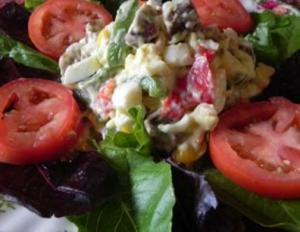 Egg, Sausage Pepper Salad