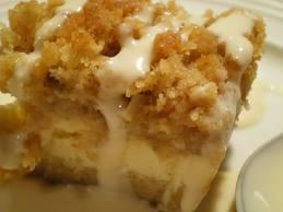 Egg-less Cheese and Apple Coffee Cake