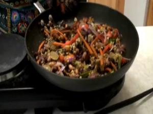 Lentil Sprout Chaat (Salad)