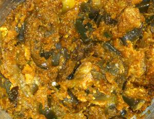 Spicy Ulli Karam Vankaya