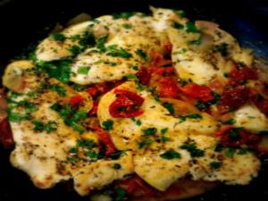 Chicken Breasts in Sun Dried Tomato & White Wine Sauce