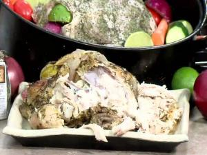Pesto Garlic Oven Roasted Chicken & How to Make Gravy