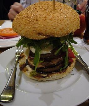 Portobello Mushroom Super Bowl Burger