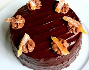 Double Chocolate Sour Cream Cake