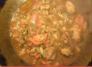 Chicken and Bok Choy Stew with Steamed Rice