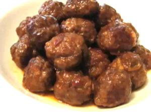 Cocktail Bison Meatballs In A Spicy Orange Sauce