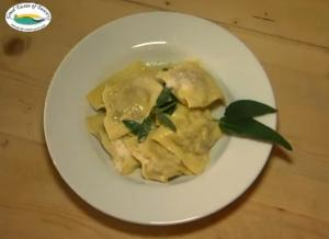 Ravioli Stuffed with Eggplant and Walnut