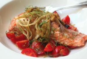 Grilled Fennel Smoked Wild Alaskan Salmon