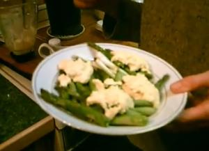 Asparagus and Green Onion with Hollandaise Sauce