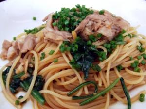 Spinach and Pork Pasta