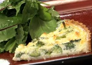 Delicious Broccoli and Goat Cheese Quiche