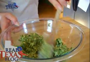 Black Eyed Peas with Jalapenos Pie - Part 3 - Spinach Mixture