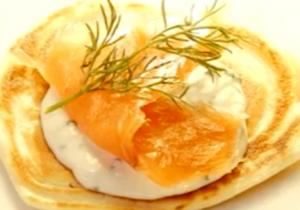 Pancake-Black Pepper Blinis with Horseradish Cream