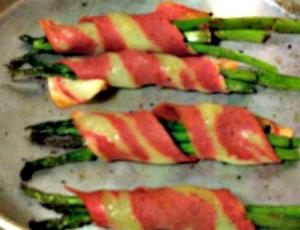 Fakin' Bacon Wrapped Asparagus