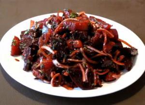 Spicy Beetroot Turnip Salad