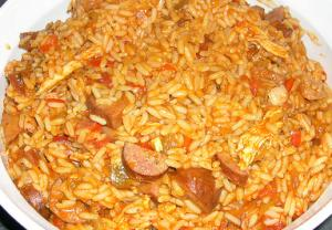 Traditional Creole Jambalaya with Smoked Chicken