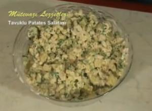 Turkish Tavuklu Patates Salatası