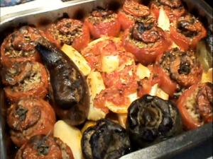 The Greek Cook:Gemista (Stuffed Vegetables)