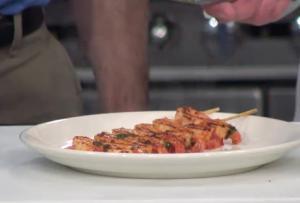 Grilled Chili Garlic Shrimp on Skewers