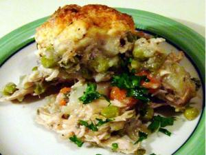 Chicken Stew with Biscuit Topping