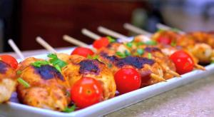 Elba's Amazing Taste Chicken on a Stick Appetizers