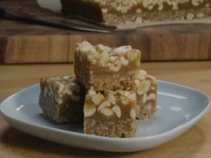 Salted Peanut Caramel Squares