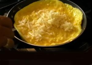 Omelette with Shredded Cheese