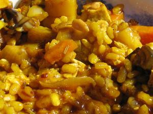 Vegetable Paella with Aborio Rice