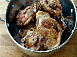 Yogurt Marinated Roasted Chicken Thighs