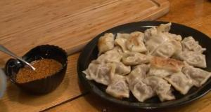 Asian Deer Dumplings with Hot Sauce