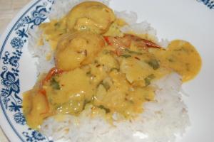Kadhi Bari Served With Rice