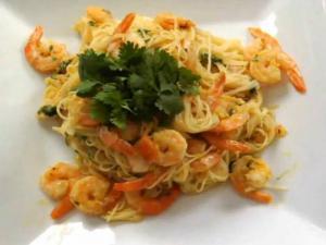 Latin Shrimp Scampi with Vermicelli