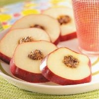 Apple cartwheels - a healthy snack idea