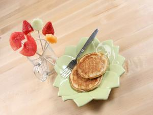 Bunny Pancakes & Fruit Bouquet