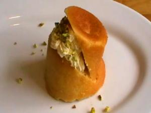 Spongy Rum Babas With Buttercream And Pistachios