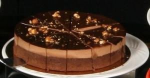 Chocolate Almond Cream Cake