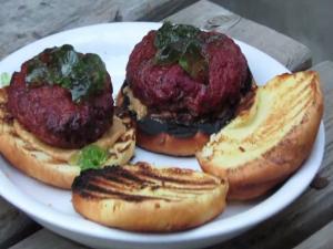 Cedar Planked Bison / Jalapeno PBJ Burger