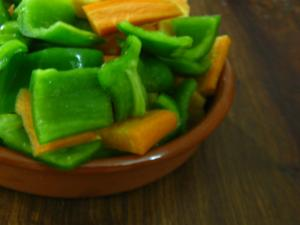 Carrot and Green Pepper Salad