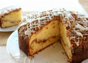 Coffee Cake with Maple Syrup Glaze