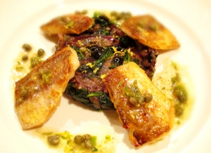 Classic White Fish With Lemon Butter Caper Sauce