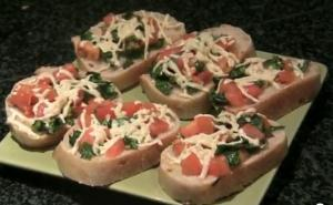Easy Cheesy Vegan Bruschetta