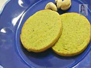 Kaju Badam Puri - Almond Cashew Cookies without Flour & Butter