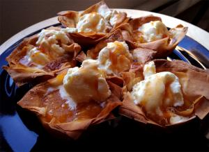 Apple Phyllo Cups With Asian Pears And Pluots