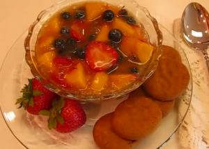 Cool  and Colorful Summer Fruit Soup