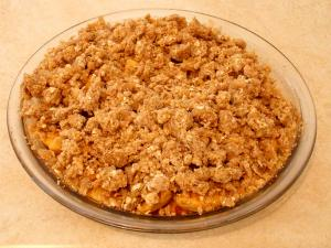 Hot Apples with Oat Topping