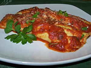 Spinach Manicotti in Marinara