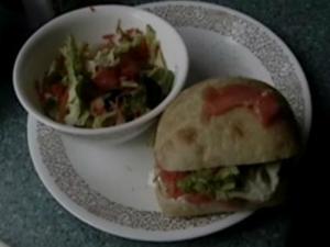 Sunil & Sahil's Special Smoked Salmon Sandwich